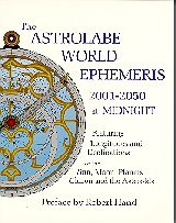 Astrology Books: Ephemerides